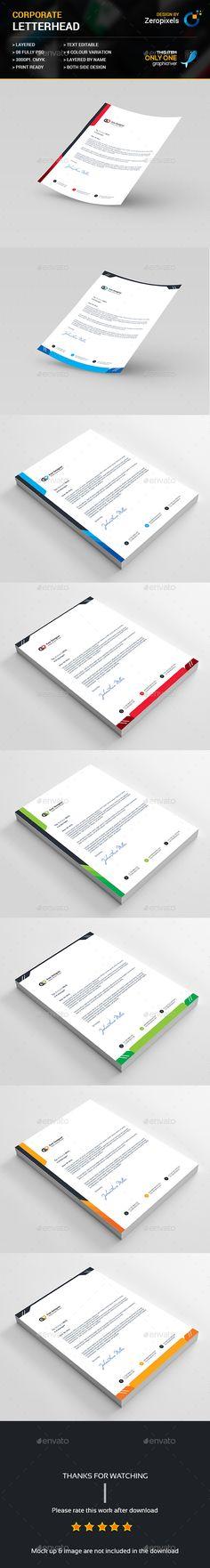 Corporate Letterhead Template PSD Bundle                                                                                                                                                                                 More