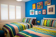 Colourful boys bedroom