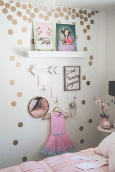 "Happy Monday! I am sharing all the lovely little details of my daughter's  bedroom makeover and where you can snag the same items! When you design a  space, it can be all about the details. Little pieces to really make the  space extra special. I chose items that were truly reflective of who my  daughter is to create a space she would love to retreat in!    First, let's chat about this  b e a u t i f u l teepee!   The ""Bianca"" teepee from SugarShacksTeepee  This amazingly girly teepee is…"