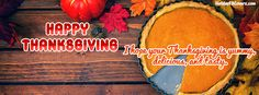I Hope Your Thanksgiving Is Yummy Delicious Tasty Facebook Cover HolidayFBCovers.com