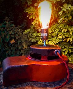 New in our shop! Vintage Briggs & Stratton Engine Cover Upcycled Table Lamp Light https://www.etsy.com/listing/193924662/vintage-briggs-stratton-engine-cover?utm_campaign=crowdfire&utm_content=crowdfire&utm_medium=social&utm_source=pinterest