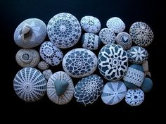 crochet covered rocks