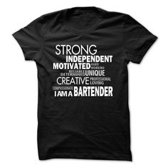 Strong bartender T-Shirts, Hoodies. BUY IT NOW ==► https://www.sunfrog.com/LifeStyle/Strong-bartender.html?id=41382