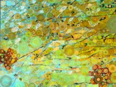 Woodland Bloom Oil painting by Suzanne Clements then digitally manipulated