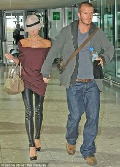 slouchy off the shoulder top, leather pants Ugggh, these two, so sexy!!!