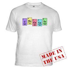 Elemental Chocolate t-shirt.