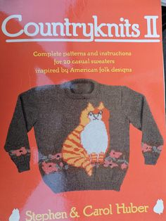 Country Knits II American Folk Pullover Cardigan Sweater Designs Soft Cover Patterns and Instruction Book by Stephen & Carol Huber Cool Patterns, Stitch Patterns, Knitting Patterns, Crochet Patterns, Flower Crew, Indian Blankets, Men's Fashion, Vintage Fashion, Fashion Patterns
