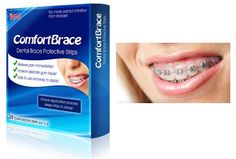 "Thanksgiving and Christmas with braces on your teeth? No problem! ComfortBrace looks like a ""Whitestrip"" but protects better than dental wax! One application lasts all day, and stays on during meals! Great for ""braces newbies"" who are in pain. Find it at http://www.dentakit.com/comfortbrace.html"