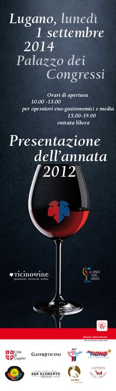 "01 SEPTEMBER /// Lugano /// IL VISO DEL VINO /// At the Palazzo dei Congressi, more than 70 vintners present their ""Barrique vine 2012"" /// www.ticinowine.ch"