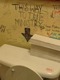 The bathroom at the Elephant House Cafe in Edinburgh, where J.K. Rowling began writing Harry Potter, is covered in Harry Potter graffiti. I want to go to there.