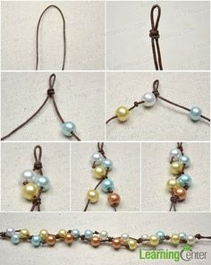 Step 1: Make beaded floating pattern ✿⊱╮Teresa Restegui http://www.pinterest.com/teretegui/✿⊱╮