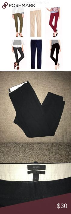 J. Crew Minnie Black Pants Gently used J. Crew Minnie Pants. Perfect for work or a night out. The first picture is for styling purposes. J. Crew Pants Ankle & Cropped