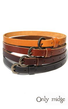 Winslow waisted belts. By Only Midge. From Body. AUD45.