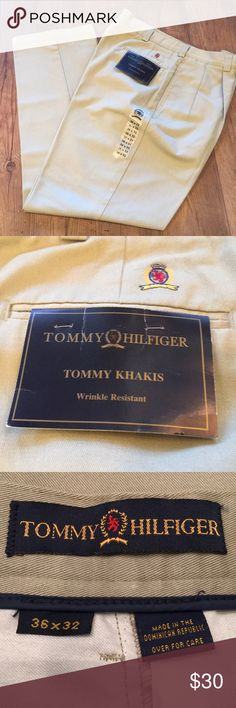 Tommy Hilfiger Khakis Wrinkle resistant, excellent quality men's pants. BRAND NEW! Size is 36 x 32. Tommy Hilfiger Pants Chinos & Khakis