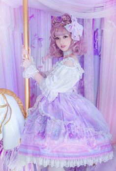 Moonlight Forest -Fantasy Castle- Lolita Jumper Dress Version II with Overskirt