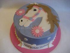 A cute girlie horse cake