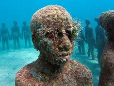 Underwater sculpture park in Grenada, West Indies