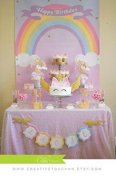 Cumpleaños Unicornio unicornio de la torta Cupcakes de
