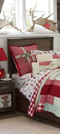 Santa Bedding #Christmas