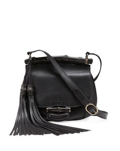 Gucci Nouveau Leather Shoulder Bag, Black - Neiman Marcus
