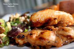 Chicken Marinade {Garlic, soy sauce, honey, pepper}