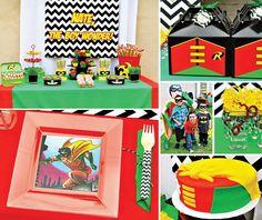 Robin, The Boy Wonder! Themed 4th Birthday Party