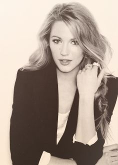 Blake Lively; talented, passionate, funny, and duh. STUNNING! I have loved her forever, seriously. <3