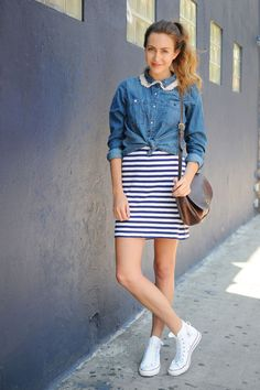 3 ways to wear a striped tank dress. Photos by Lia Schryver.