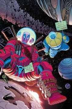 #Deadpool #Fan #Art. (Deadpool vs. Thanos Vol.1 #2 Cover) By: Tradd Moore & Matthew Wilson. (THE * 5 * STÅR * ÅWARD * OF: * AW YEAH, IT'S MAJOR ÅWESOMENESS!!!™)[THANK U 4 PINNING!!!<·><]<©>ÅÅÅ+(OB4E)