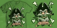 Pirate Radio tshirt design for sale.