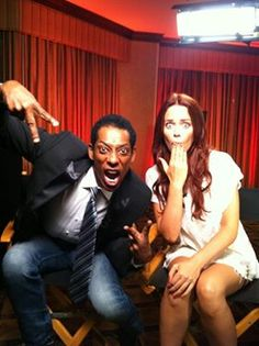 """Orlando and Katia are very serious about the new FOX show """"Sleepy Hollow.""""  They appeared on the morning show of our sister station, FOX 26 in Houston, to discuss it."""