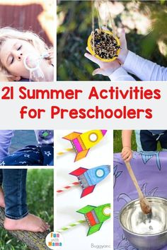 These summer activities for preschoolers are fun and simple to do. All you need is a bit of time and you'll be having an absolute blast! #summeractivities #preschoolactivities #outdooractivities Summer Preschool Activities, Kids Activities At Home, Toddler Preschool, Outdoor Activities, Easy Crafts For Kids, Summer Crafts, Summer Fun For Kids, Early Learning, Activity Ideas