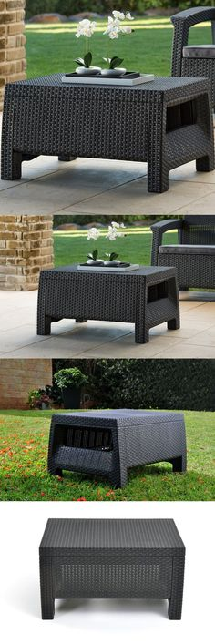 Tables 112590: Outdoor Coffee Table Resin Wicker All Weather Patio Garden  Back Yard Furniture