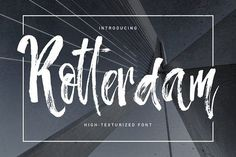 Rotterdam - highly-texturized font by Favete Art on @creativemarket