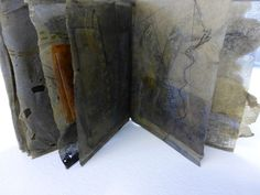 tracemarks: tea bag book art - Susan Bowers - beautiful books with color and texture.