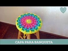 Criações em Crochê: Capa para banqueta | Luciana Ponzo - YouTube
