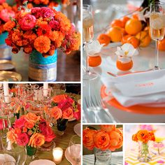 Decoración para boda en color #CelosiaOrange #deco #Wedding #YUCATANLOVE