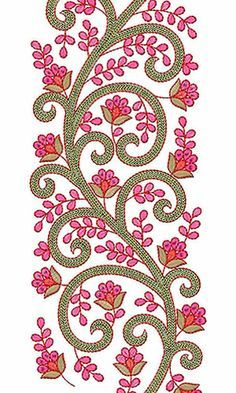 This design also used as Pakistani Fabric Online, This is Designer Lace Fabric Border Embroidery Designs, Simple Embroidery, Lace Embroidery, Cross Stitch Embroidery, Embroidery Patterns, Machine Embroidery Applique, Free Machine Embroidery Designs, Paisley, Embroidery Techniques