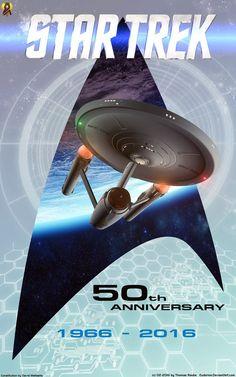 50 Years Star Trek by Euderion.deviantart.com on @DeviantArt