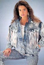 Who could forget acid washed jeans?  I bet the fringe on this jacket was the icing on the cake. LOL