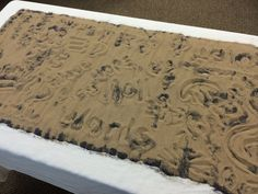 etch in sand and then dump sand