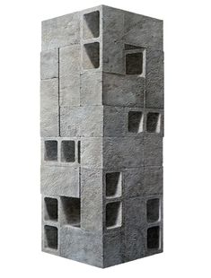 'Monday' painting by American artist Nolan Haan. It could easily be an architectural model or a Chillida sculpture.
