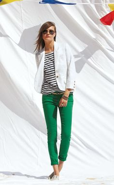 green pants are a must this spring... so refreshing