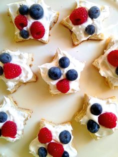 Cut biscuits into a star and top with Cool-Whip and berries for the ultimate anytime treat.