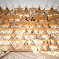 physical model - 'One With the Birds' - AIM Legend Tent competition - China - Chris Precht - 2014 World Trade Center, Skin Aesthetics, Timber Architecture, Bamboo Structure, Bamboo Design, Arch Model, Construction, Urban Farming, Scaffolding