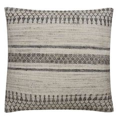 Combining stripes with ethnic patterns, the Peykan 02 Pillow takes the best of the old world and makes it modern.