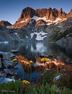 Iceberg Lake, Ansel Adams Wilderness, Eastern Sierra, California by Steve Sieren