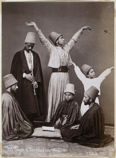::::♡م ♡ ✿⊱╮☼ ☾ PINTEREST.COM christiancross ☀❤•♥•* ✨♀✨ :::: Whirling Dervishes Group, 1870. Photographed by Sheba Pascal
