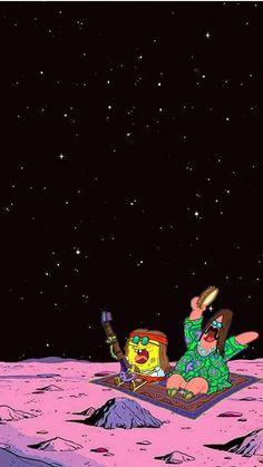 Space themed spongebob wallpaper Smart Phone Wallpapers - Space themed spongebob wallpaper Smart Phone Wallpapers iphonewallpaper S - Disney Phone Wallpaper, Trippy Wallpaper, Cartoon Wallpaper Iphone, Wallpaper Space, Homescreen Wallpaper, Iphone Background Wallpaper, Retro Wallpaper, Aesthetic Pastel Wallpaper, Cellphone Wallpaper