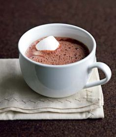 Hot chocolate: ...after a long day in the snow